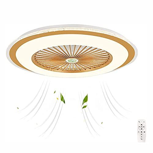 JZlamp Ventilador de Techo de 60 cm con Luces y Control Remoto Silenciosamente, Regulable con Temporizador Ventilador de Velocidad del Viento Ajustable Iluminación de Techo, para habitación de niños