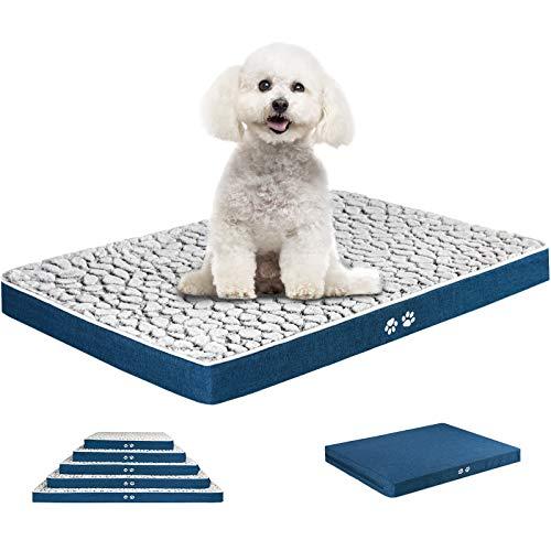 KROSER Hundematte 61CM Stilvolles Haustiermatte Wende Bettbettmatte (Warm und Kühl) Weiches Hundebett Schaumstoff mit hoher Dichte Waschbar Haustierbett für Kleine Hunde und Katzen bis zu 11Kg