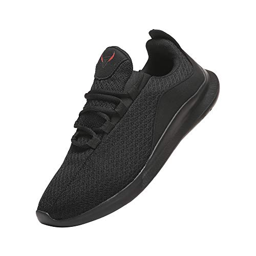 PAGBOJAS Men's Trail Running Shoes for Casual Athletic Gym Walking Tennis Sports Workout Fitness, Breathable Mesh Fashion Sneakers,Black,Size 10