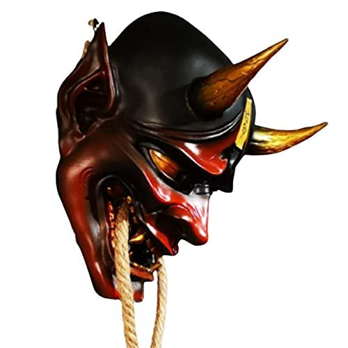 Qiujing Máscara de emulsión con fantasma Samurai en forma de novedad durable traje único para fiesta festival interior al aire libre