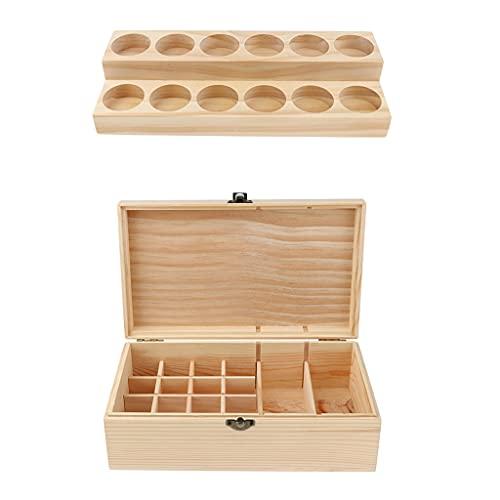 LSB-SHOWER 2 pcs Perfume Essential Oil Display Transport Storage Wooden Case and Holder Set for Bottle Roller/Dropper Bottle/Test Tubes (Color : China)