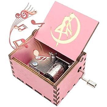 ukebobo Wooden Music Box – Sailor Moon Music Box Sailor Moon Gifts – Play Sailor Moon Theme Song – 1 Set