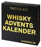 Whisky Adventskalender in edler Geschenkbox exklusiv von scotchbar – 24 hochwertige Whisky aus Schottland, Irland, USA und Kanada