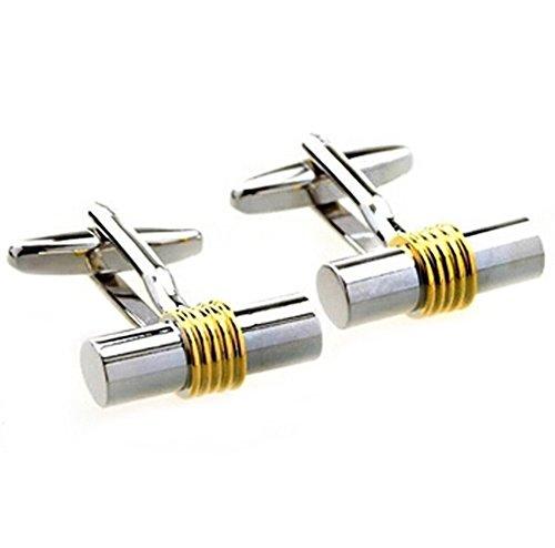 Demarkt 1 Paire Boutons de Manchette Géométrique Cylindrique Forme pour Homme Cufflink