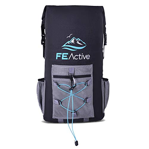 FE Active Mochila Refrigerante Camping Portátil - Aislamiento Térmico, Bolsa Nevera Impermeable Bolsa de Almuerzo Compacta para Picnic, Playa, Viajes, Kayak, Pesca, Caza | Diseñada en California