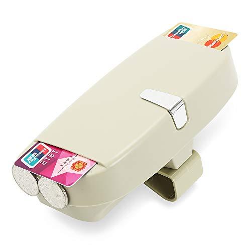 WJBABJ Caja de vidrios de Visera de Coche Caja de Gafas de Gafas de Sol Caja de Almacenamiento para Citroen Grand C4 Picasso C4 Aircross C Elysee DS3 C5 (Color Name : Beige)