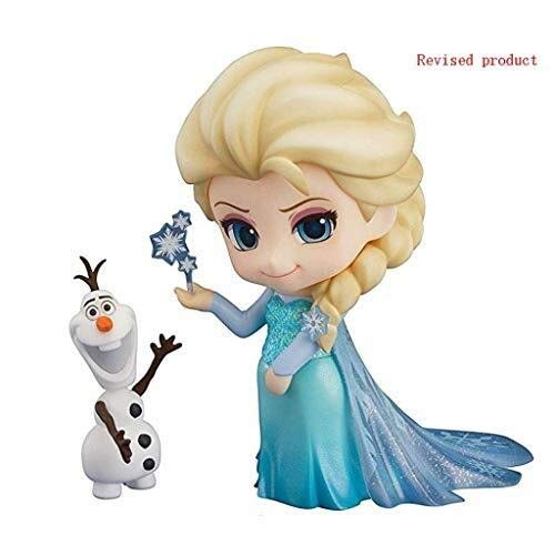 Xfwj Frozen: Elsa Anime standbeeld Nendoroid Action Figure Xuebao Snow Queen Princess Q Edition Clay Hand Model Anime game liefhebbers collectie model