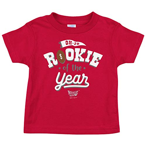 Ohio State Football Fans. Rookie of The Year Red Onesie or Toddler Tee (NB-4T) (Toddler Tee, 3T)