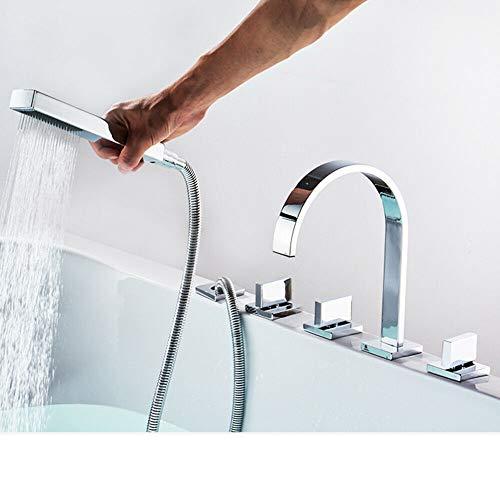 Robinet de baignoire moderne à 5 trous avec douchette