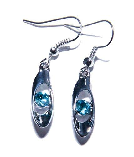 Ohrringe Creolen Ohrstecker Zirkonia 925 Sterling Silber plattiert VR1137a