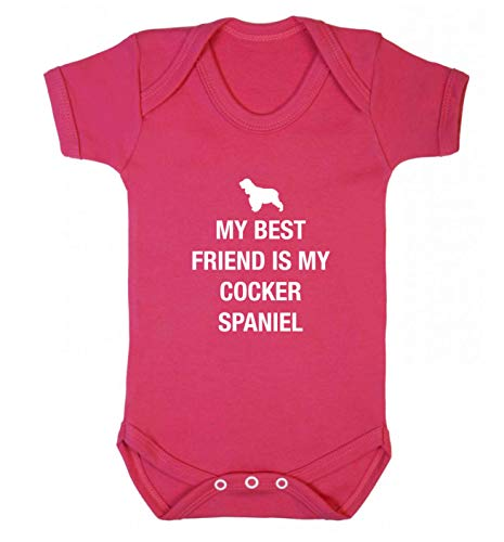 Flox Creative Gilet pour bébé Best Friend Cocker Spaniel - Rose - XS