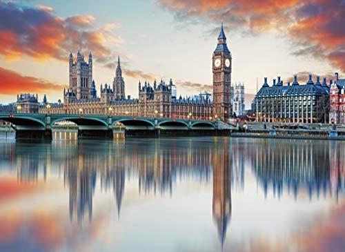 YITUOMO Rompecabezas de 1000 Piezas para Adultos Big Ben, London Mini Rompecabezas...