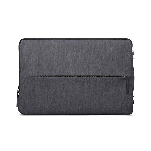Lenovo Urban Laptop Sleeve for 15.6' Notebook, Water Resistant, Soft Padded Compartments, Accessory Storage, Reinforced Rubber Corners, Extendable Handle, GX40Z50942, Charcoal Grey