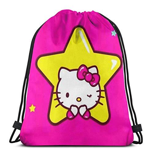 Bolso de hombro clásico con cordón Ba Hello Kitty Gym Bapa para hombre y mujer