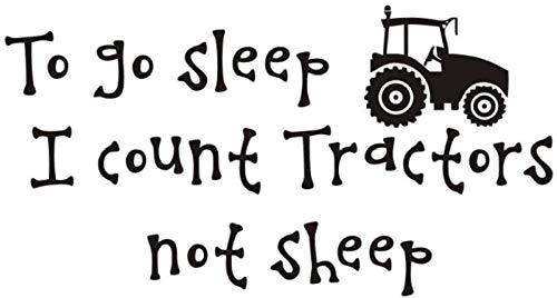 Pegatinas de pared calcomanías extraíbles frase de dibujos animados historia tractor no es oveja habitación de los niños decoración del hogar vinilo para niños dormitorio 59X32 cm