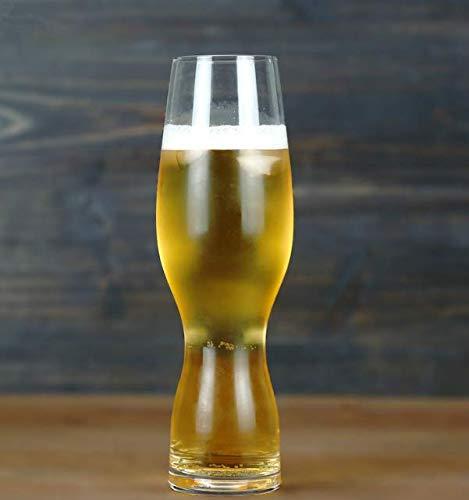 VYEKL Trigo Cerveza Vaso Cristal sin Plomo Pilsen Craft Cerveza Jarra Bar...