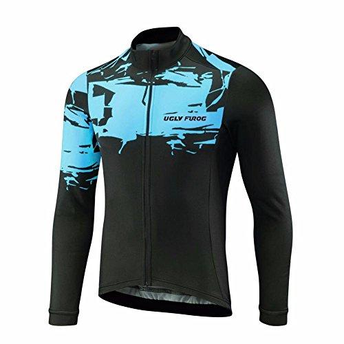 Uglyfrog HWLJ40 2018 Ciclismo Maillot Hombre Ropa Deportes y Aire Libre Manga Larga Winter with Fleece Ropa De Triatlon Jersey