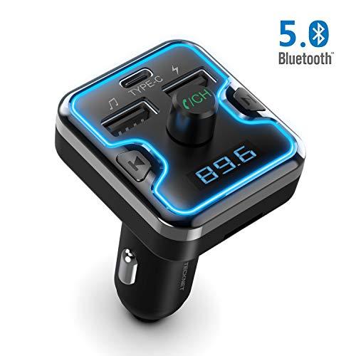 TECKNET Transmisor FM Bluetooth 5.0 Bluetooth Coche