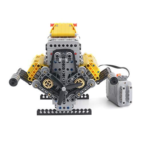 PPJ Modelo de ladrillos de motor V8 - MOC-60662, 945 piezas de bloques de construcción de pantalla dinámica, compatible con marcas líderes