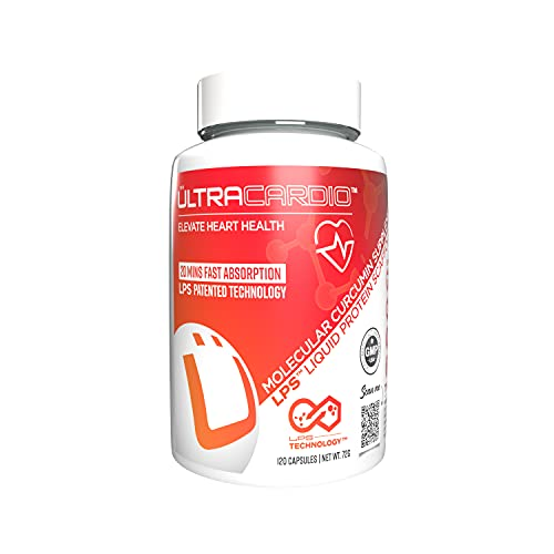 UltraCardio Extra Strength Olive Leaf Extract 18% Oleuropein with Curcumin (120 Capsules)