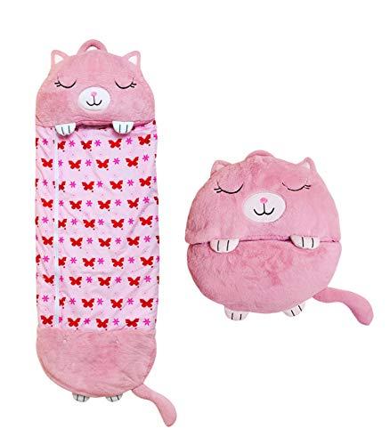 Colife Cartoon Tiere Schlafsack Kissen, Tier Kissen und Schlafsack,für Jungen Mädchen Faltbarer Weicher Warmer Schlafsack 180cm*75cm 1