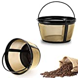Reusable Coffee Filters Basket, 2 Pack for 8-12 Cup Mr. Coffee, Black and Decker Coffee Makers and Brewers by Fetechmate -Save on Filter Papers