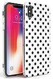 Case Warehouse Enfriar diseñador del Lunar Blanco Slim Funda para iPhone XS MAX TPU Protector Ligero Phone Protectora con La Manera Caliente De Tendencia Moda