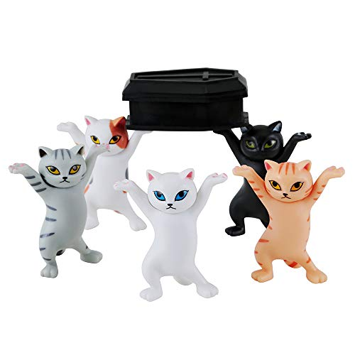 The Cat Coffin Dance,The Cat lifted the coffin Dancing Pallbearers, pen holder, mobile phone...