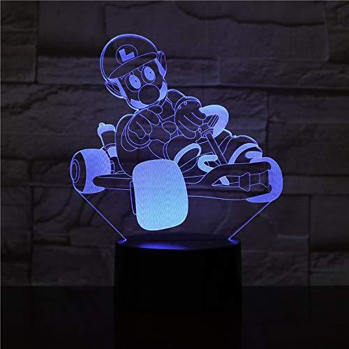 Super Character Racing 3D Led Illusion Lampe Veilleuse Art Déco Lampe,Enfants Meilleur Cadeau, Maison Chambre Bureau Décor Pour Enfants D'Anniversaire De Noël Cadeau
