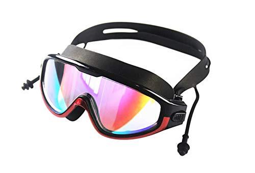 Gafas de natación Nuevas Gafas de Moda a Prueba de Agua y Anti-Niebla HD Gafas para Hombres y Mujeres Nadando Gafas de Silicona para Hombres Adultos Mujeres jóvenes (Color : Anti UV Red)