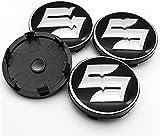 4 Piezas Tapas Centrales Rueda para Suzuki S-Cross Vitara SX4 Jimny Swift Samurai IGNIS Liana Spacia Alto,Coche Tapacubos Centra,Tapas Centrales De Llantas Pegatinas con El Logo,60mm
