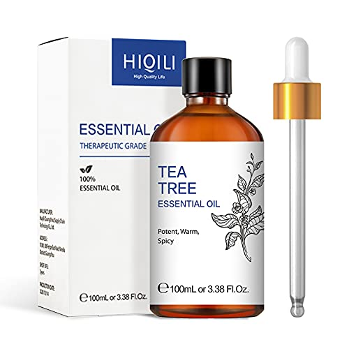 Olio dell'albero del tè per la cura dei capelli e della pelle, olio essenziale di albero del tè australiano puro naturale per diffusore, 100 ml