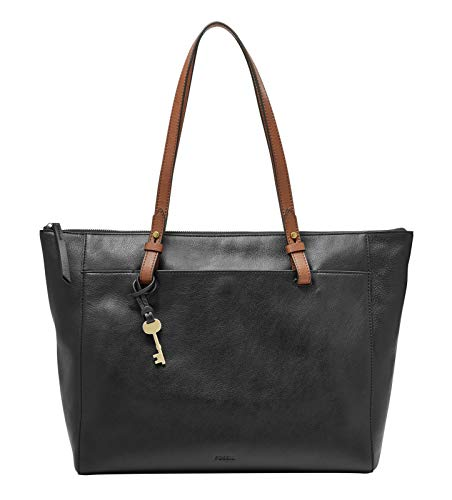 Fossil Damen Handtasche Tasche Shopper Rachel Tote Leder Schwarz ZB7507-001