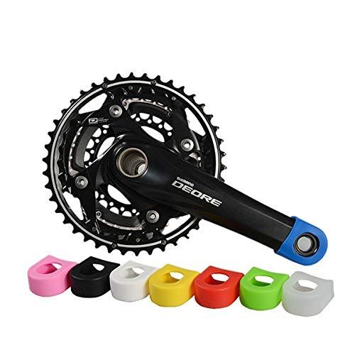 MXBIN Bicicleta de manivela Protector Bielas Engranaje Fijo de Bicicletas Juego de bielas Caso de la Cubierta Protectora Herramienta de reparación de Piezas de Accesorios (Color : Green)