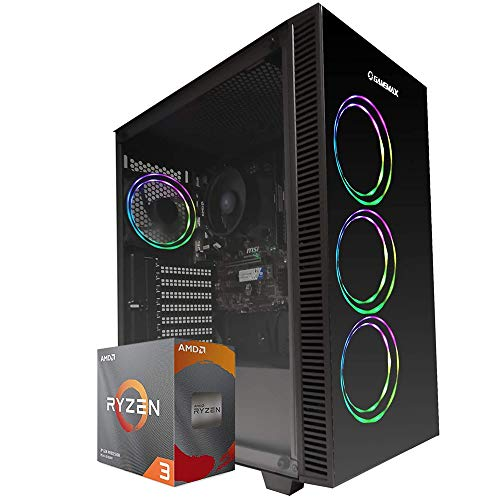 Pc gaming Ryzen 3 PRO 4350G 4.00 Ghz Turbo,SSD M.2 500 GB,Ram 16Gb 3200Mhz ,450w 80 Plus ,Wi Fi 300Mbps , Computer da Gaming,Windows 10 Professional