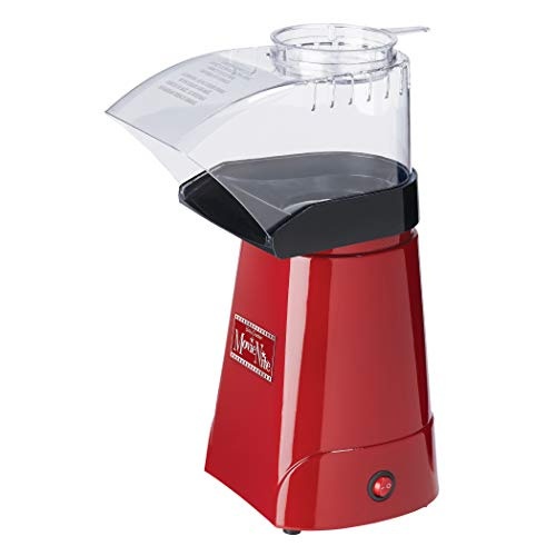 Betty Crocker Electric Hot Air Popcorn Popper, Healthy Snack, Makes up to 16 Cups, Red