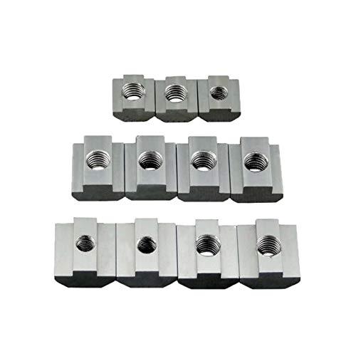 T bloque cuadrado tuercas cuadradas M3 M4 M5 M6 M8 Tuerca deslizante Tuerca de martillo deslizante para 2020 3030 4040 Perfil de aluminio Fijado NUTS DUO ER (Size : 4040 M5 (5pcs))