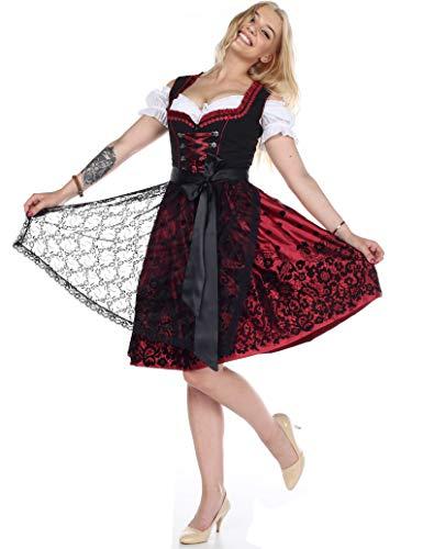 Lifos 0220 Dirndl Germandress 3Tlg. Oktoberfest Gr.34 bis 52 !ORIGINAL (0200WEİNROTE, 34)