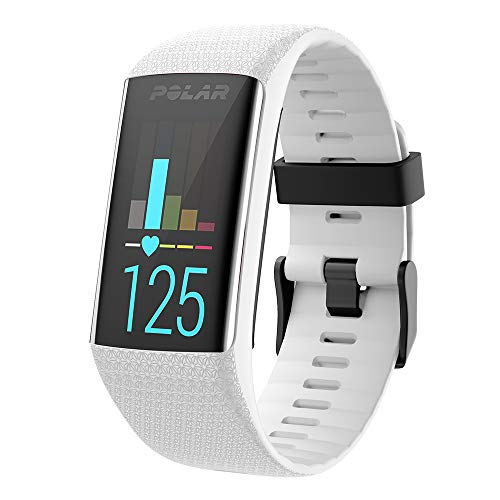 WIIKAI Replacement Polar A3060/A370 Strap Bands,Silicone Watch Band Compatible for Polar A3060/A370. (White)