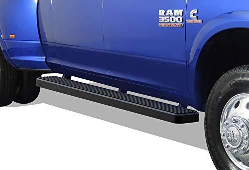 APS iBoard Running Boards 6-inch Matte Black Custom Fit 2010-2020 Ram 2500 3500 Mega Cab Pickup 4-Door (Nerf Bars Side Steps Side Bars)