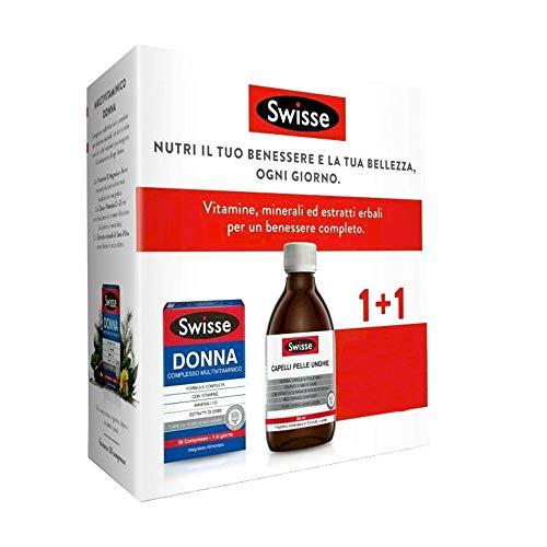 Swisse Multivitaminico Donna 30 Compresse + Capelli Pelle Unghie Liquido 300ml