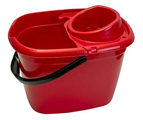 Abbey 12 Litre Plastic Socket mop Bucket Red WQ12RE10L