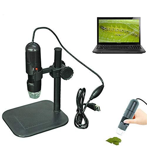 YUDIYUDI-EM Kinder Educational Mikroskope, 500x USB-Mikroskop Digital-Mikroskop mit faltbarem Standplatz Echt 2MP Sensor 8 LED USB Digital Handmikroskop Kompatibel mit Windows XP/Vista / 7/8