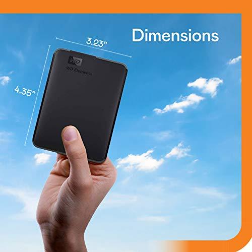 WD Elements Portable, externe Festplatte – 2 TB – USB 3.0 – WDBU6Y0020BBK-WESN - 2