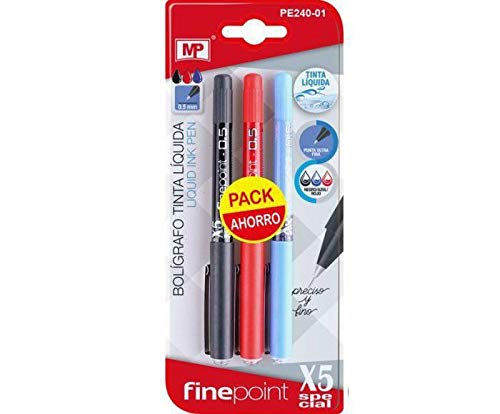 Per Set X5 Special 0.5 Blue, Red and Black, Madrid Papel Import S.l, Writing Supplies for Kids, School, Creativity School