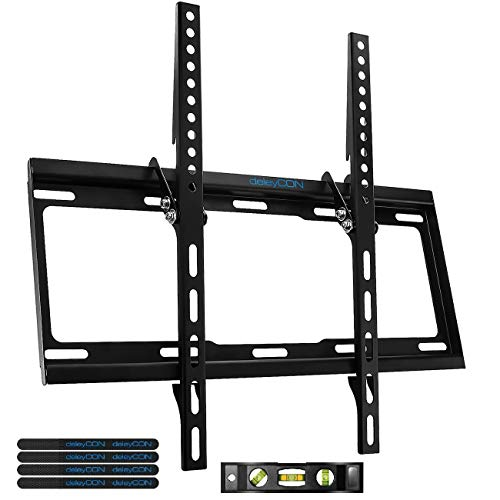 "deleyCON Universal TV Wandhalterung - 32\"" - 55\"" Zoll (81-140cm) - bis 35Kg & VESA 400x400mm - Neigbar - Wandabstand 25mm - TV LCD LED OLED"