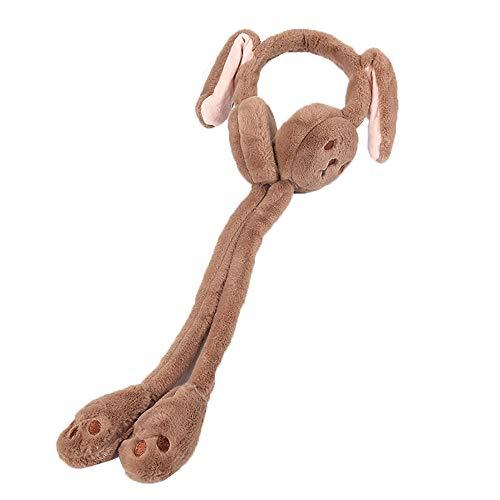 FTYYSWL Ohrenschützer werden sich bewegen, Hasenohren Winter weiblich warme Ohrenschützer Kinder Cartoon niedlich Ohrwickel Ohrwärmer Earcover C