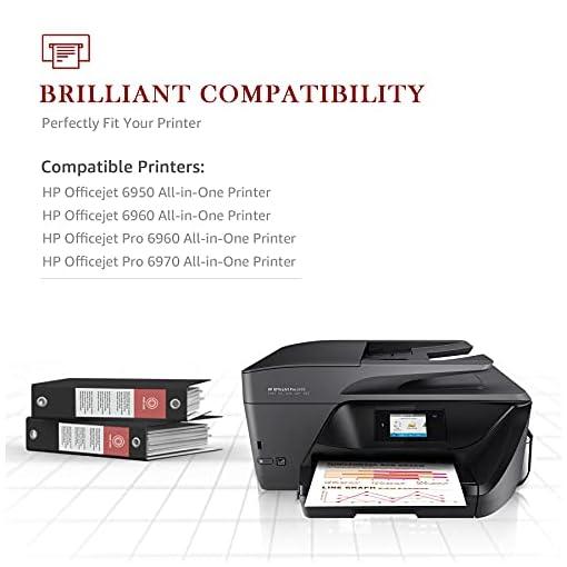 Toner Kingdom Chip de Actualización 903XL Cartuchos de Tinta Compatible para HP 903XL 903 para Impresoras HP Officejet… 5
