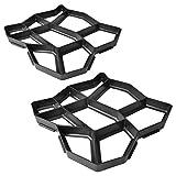Set 2 moldes de pavimento para el jardn, 42 x 42 x 4 cm