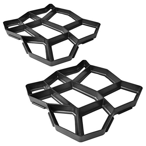 Set 2 moldes de pavimento para el jardín, 42 x 42 x 4 cm